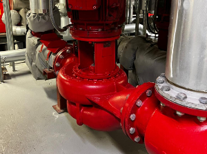 A selection of HVAC pumps in a plant room
